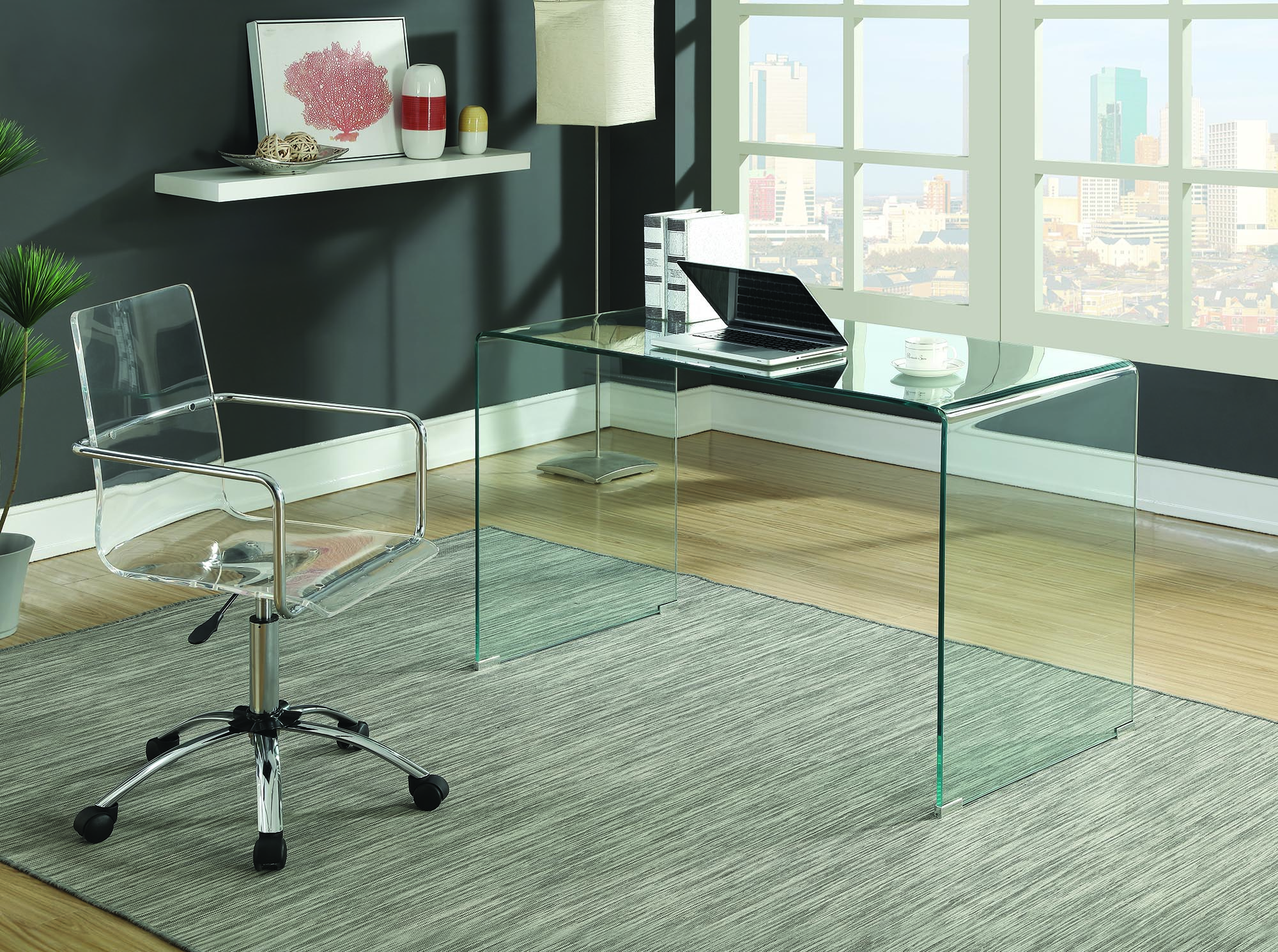Glass desk for office Contemporary Imagesproducts801581jpg Wyckes Furniture Solid Glass Desk 801581 Clear Tempered Glass Round Modern