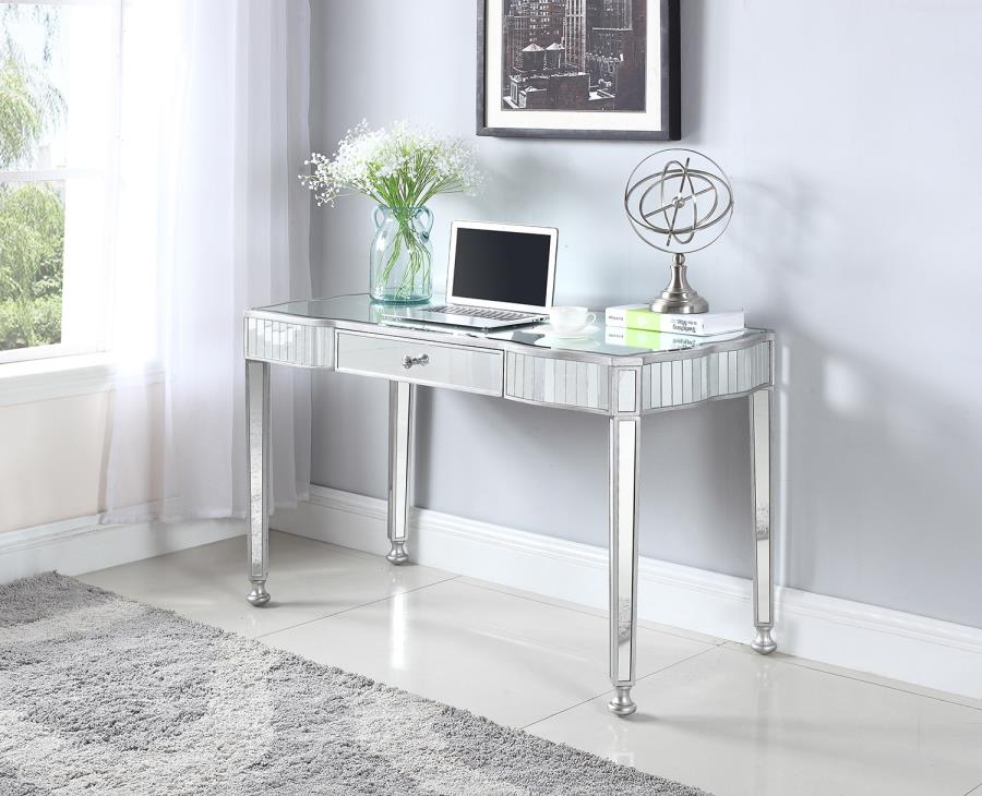 Coaster 801671 Silver And Crystal Writing Desk