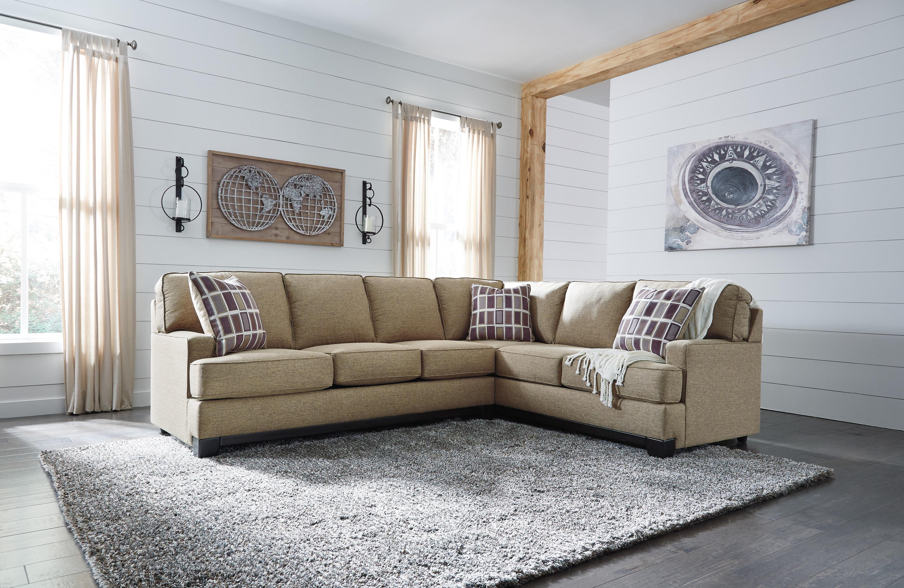 Larkhaven 49 Sectional Sofa by Ashley Furniture Amber Color