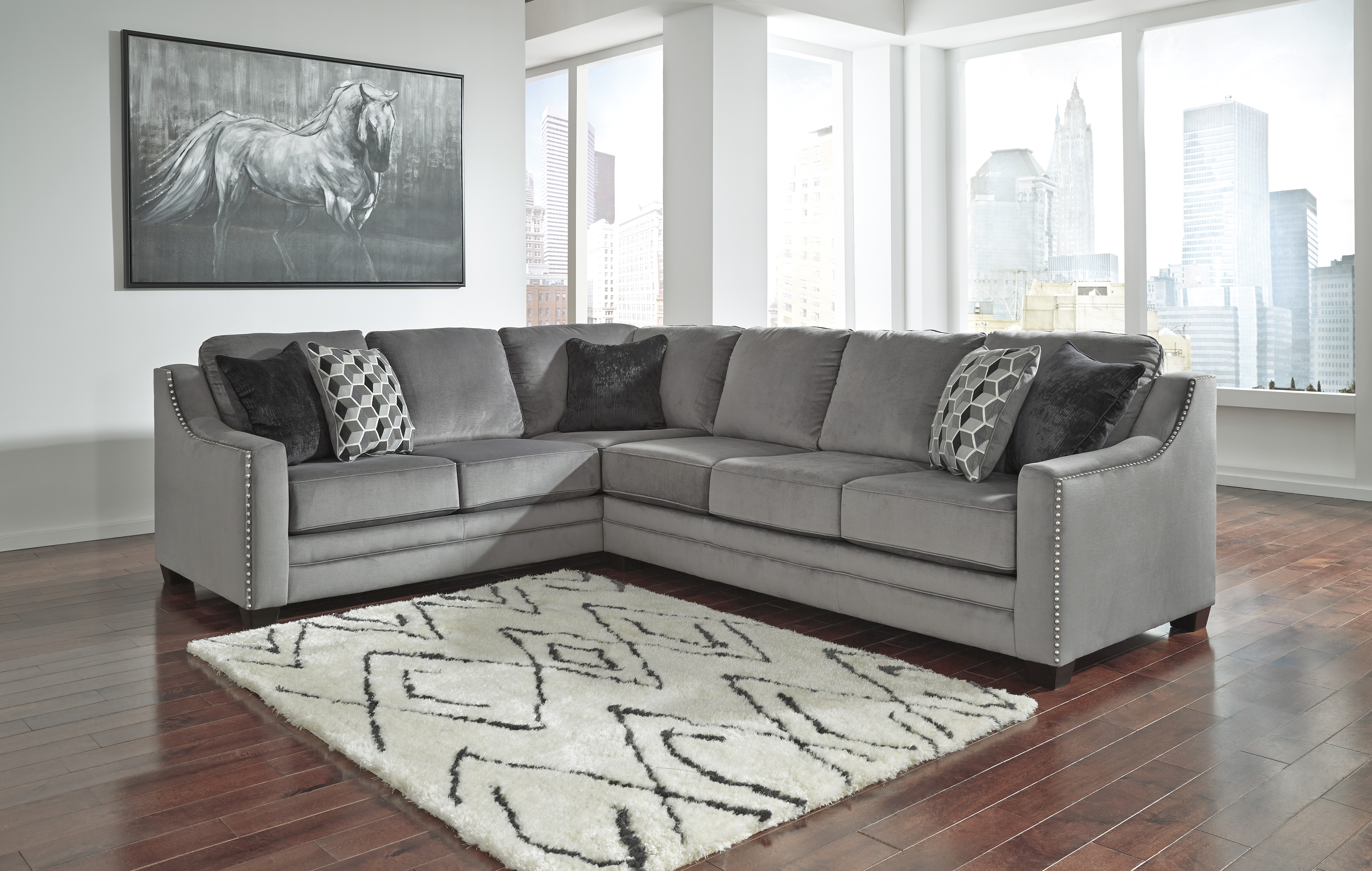 bicknell charcoal ashley sectional sofa - Ashley Furniture Sectional Sofas
