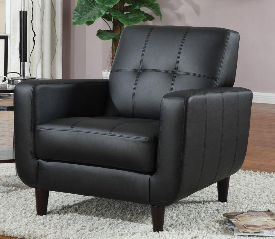 Vinyl Collection 900204 Black Accent Chair