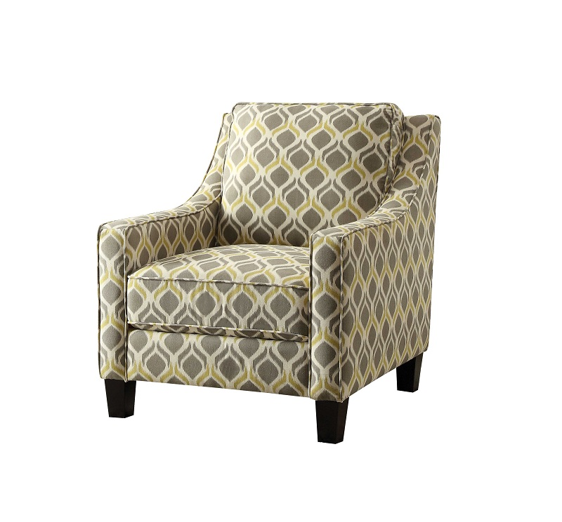 Accent Chair by Coaster 902428 Yellow and Grey