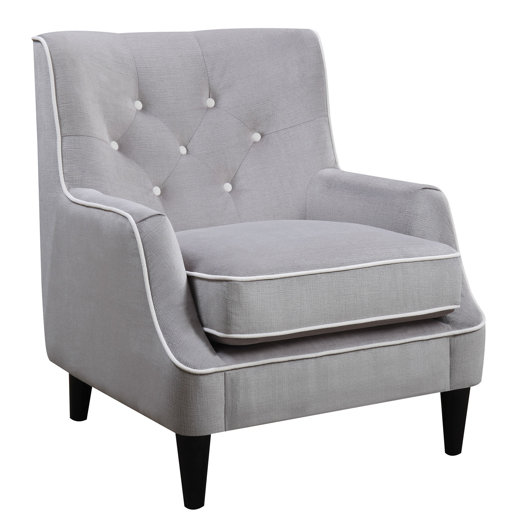 Donny Osmond Home 902894 Grey And White Fabric Accent Chair