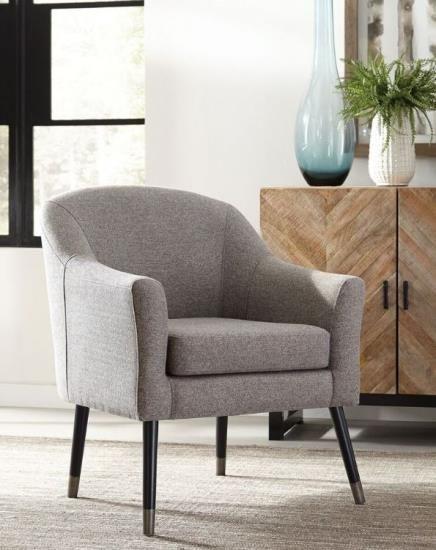 Scott Living 903378 Grey Fabric Accent Chair