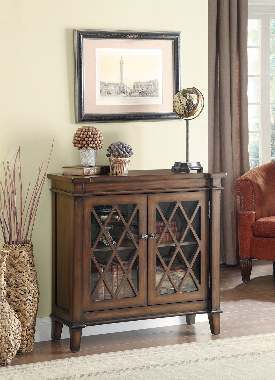 Henry Collection 950348 Accent Cabinet In Warm Brown