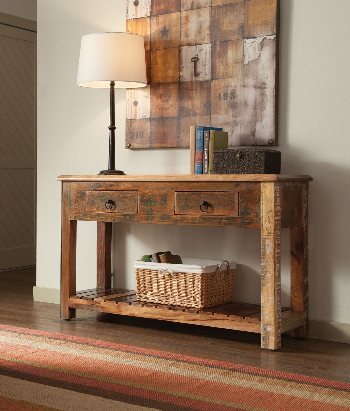 Roberts Collection 950364 Console Table In Reclaimed Wood