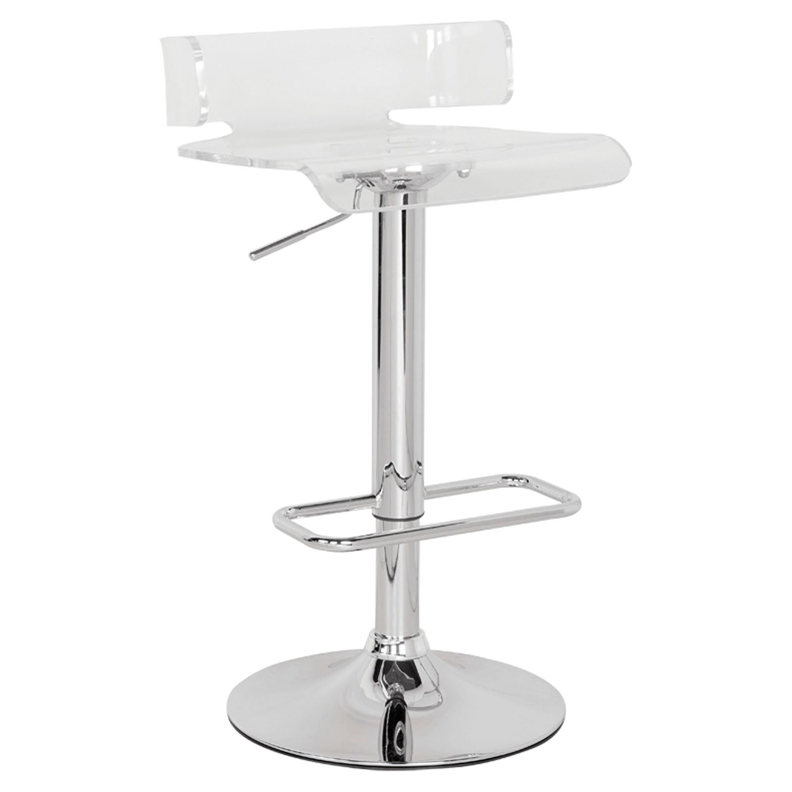 Rania By Acme 96260 Chrome Finish Counter Height Chairs
