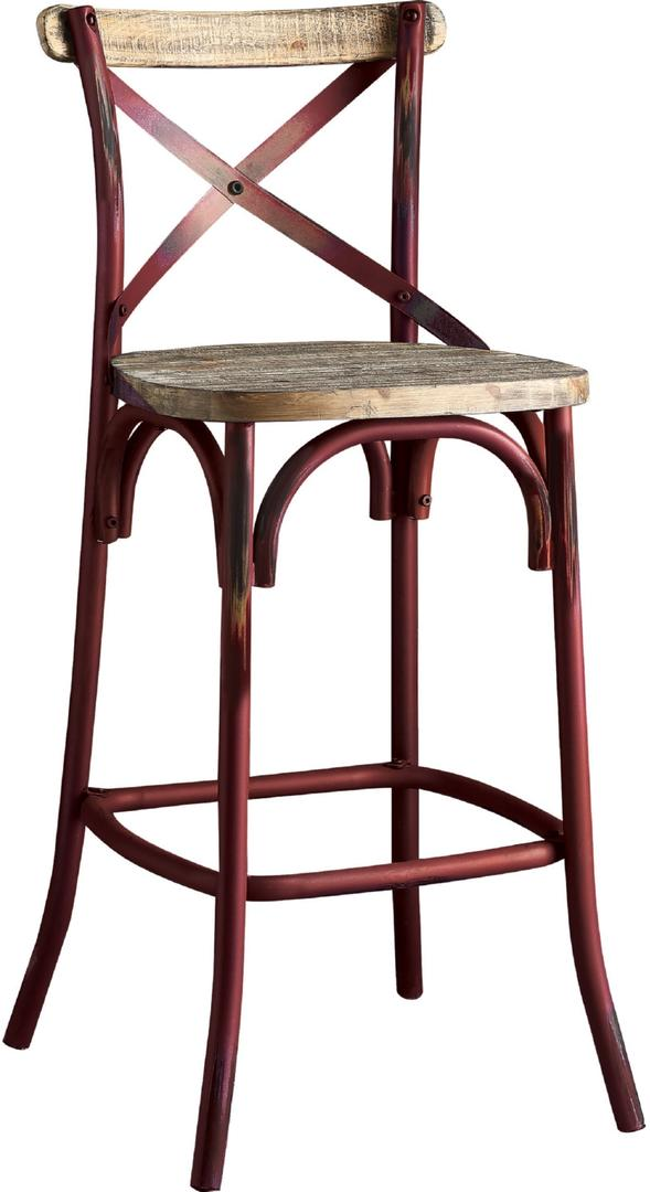 Zaire By Acme 96808 Antique Red Bar Height Chair