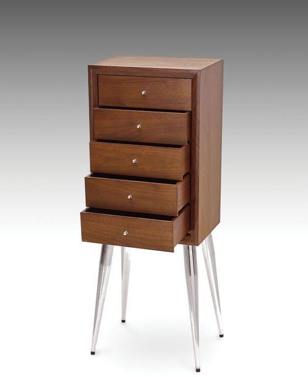 Acme Furniture 97210 Gannon Dark Mahogany Jewelry Armoire
