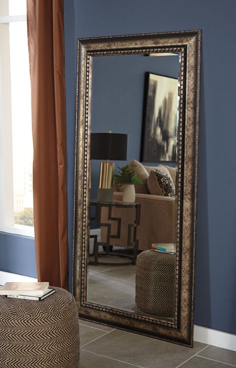 Dulal Accent Mirror A8010083 By Ashley Furniture Egg And