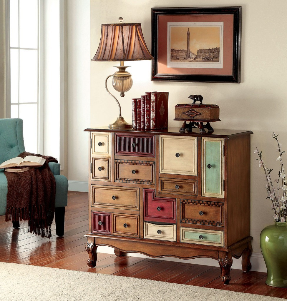 Furniture of america AC149 multi color drawer accent chest : ac149 from www.wyckes.com size 975 x 1024 jpeg 264kB