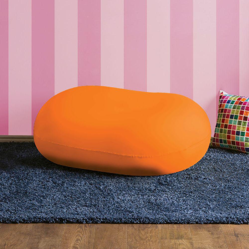 Furniture of America AC881OR orange bean bag spandex accent chair