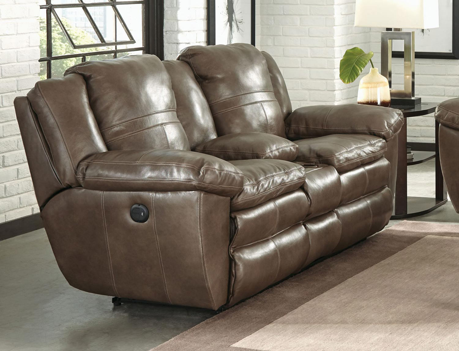 collection grain reclining leather catnapper with sofa sofas loveseat smoke aria by italian top lay flat