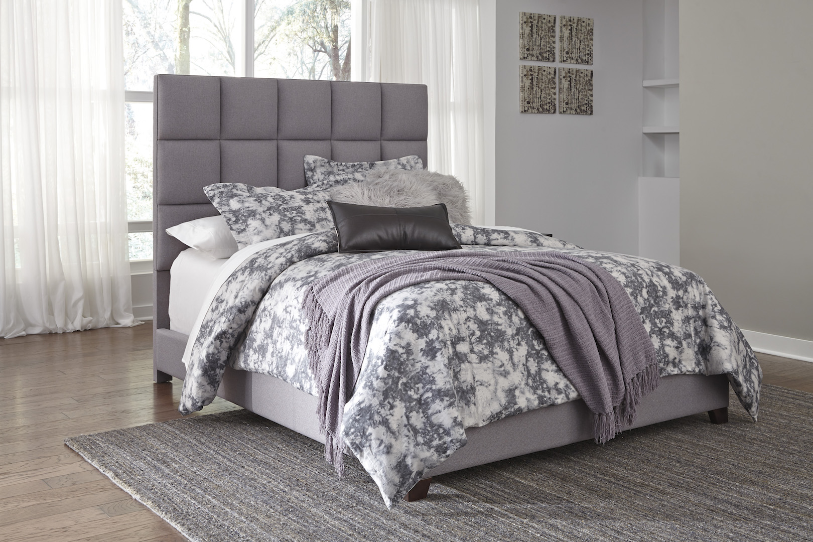 Ashley Furniture B130 381 Contemporary Queen Gray Fabric