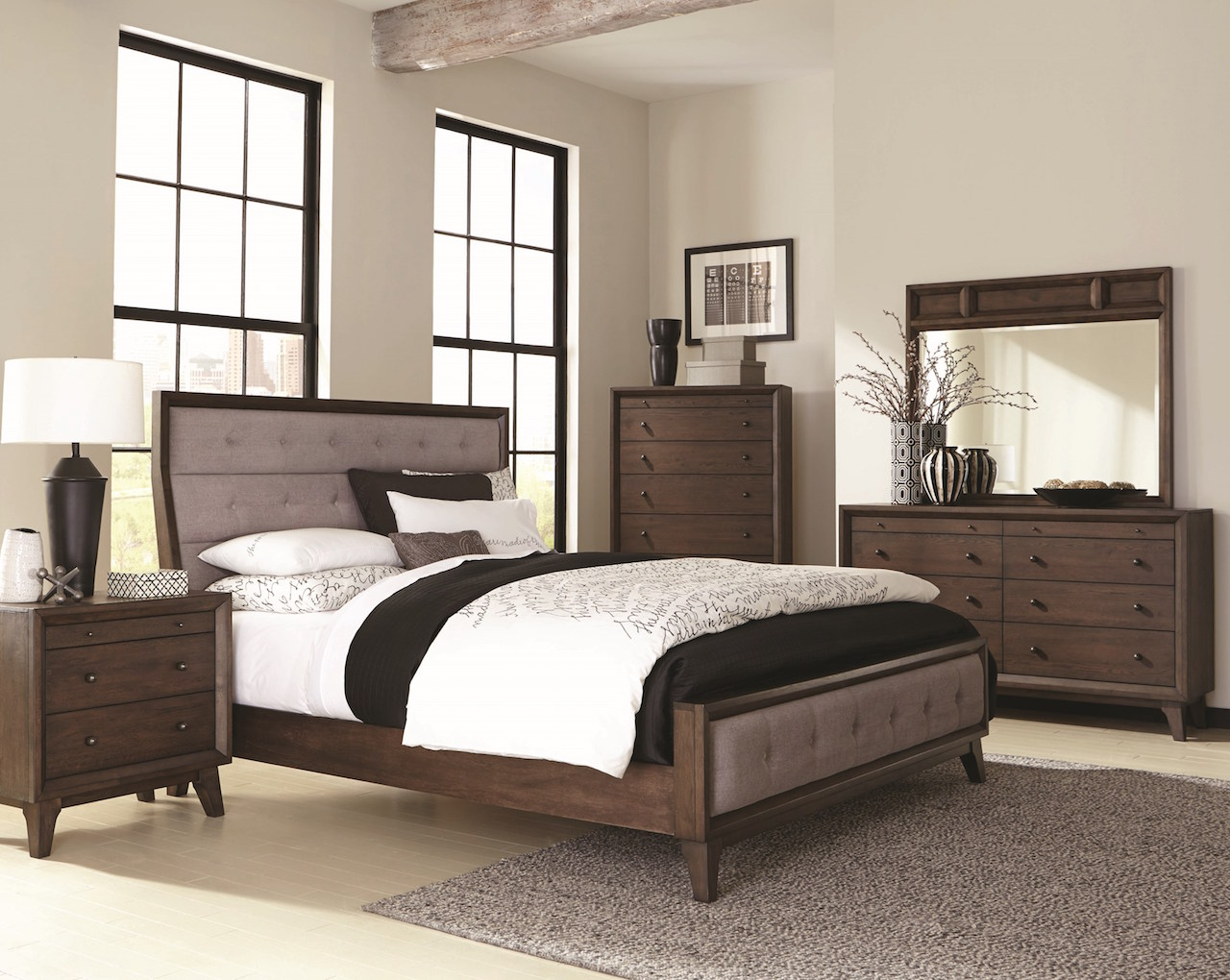 Bingham Collection B259 by Coaster Bedroom Set. Bingham Collection B259 Bedroom Set is a Retro Modern Design