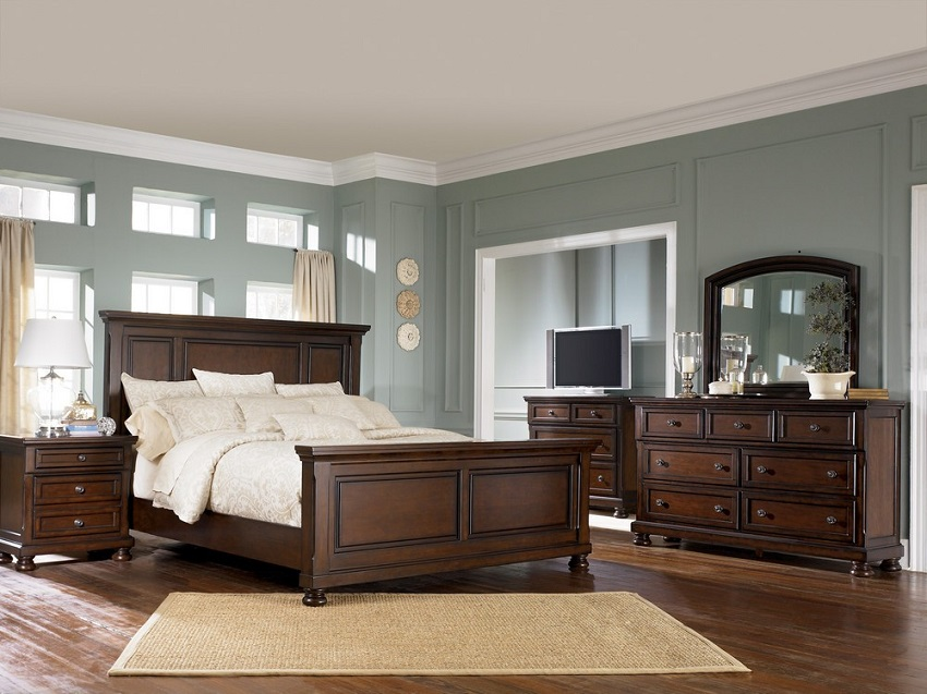 ashley porter collection b697 traditional bedroom set