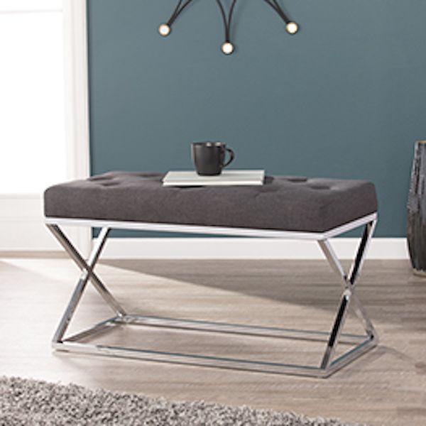 Kinsella Coffee Table: BC8098 Kinsella Southern Enterprises Upholstered Bench