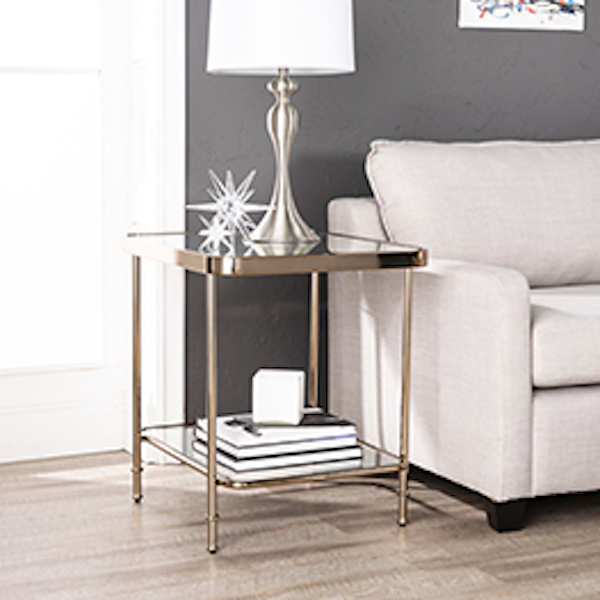 Ck8282 Sandlin By Southern Enterprises Mirrored End Table