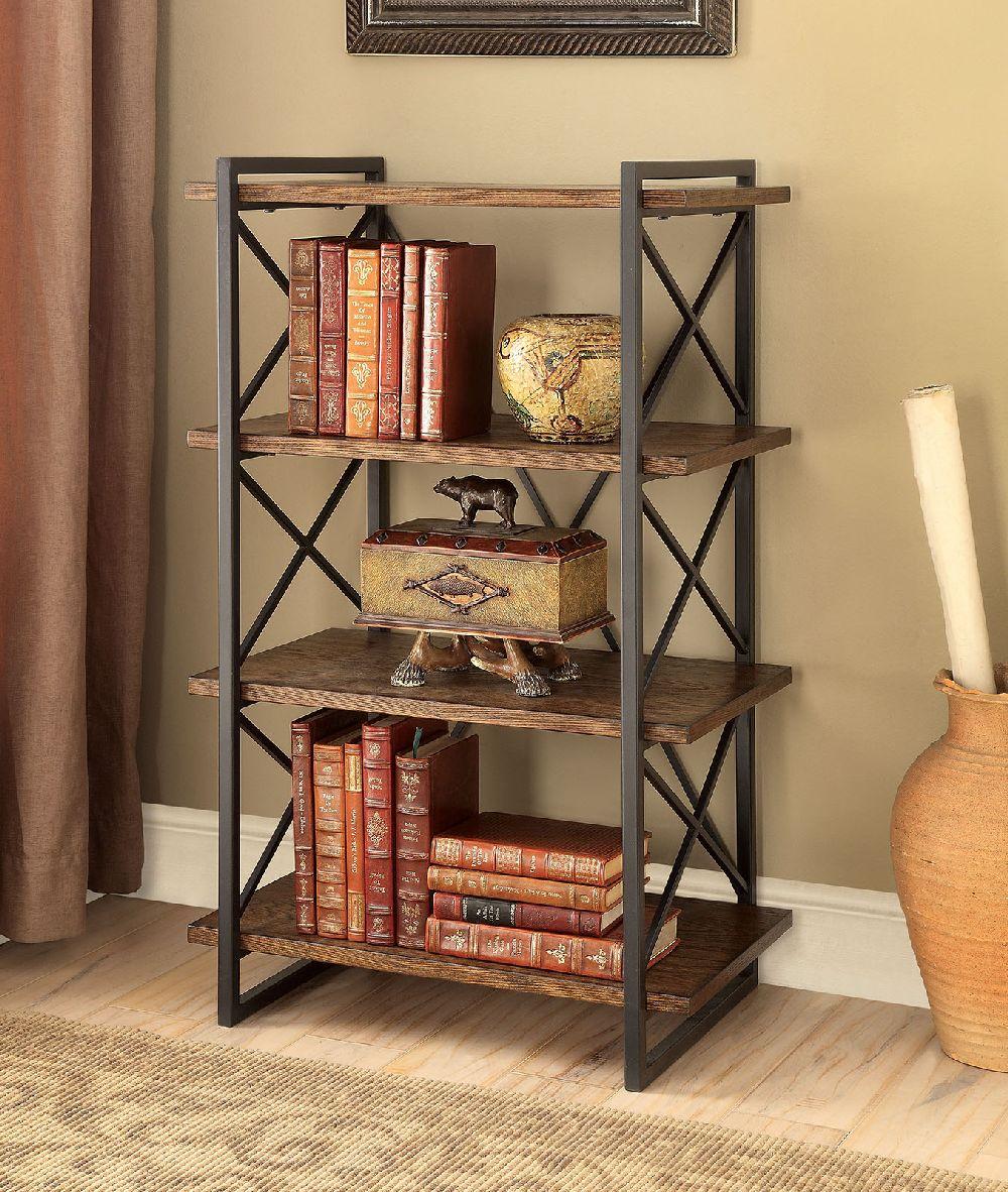 Furniture Of America Cm Ac6203 Small Bookshelf Metal X
