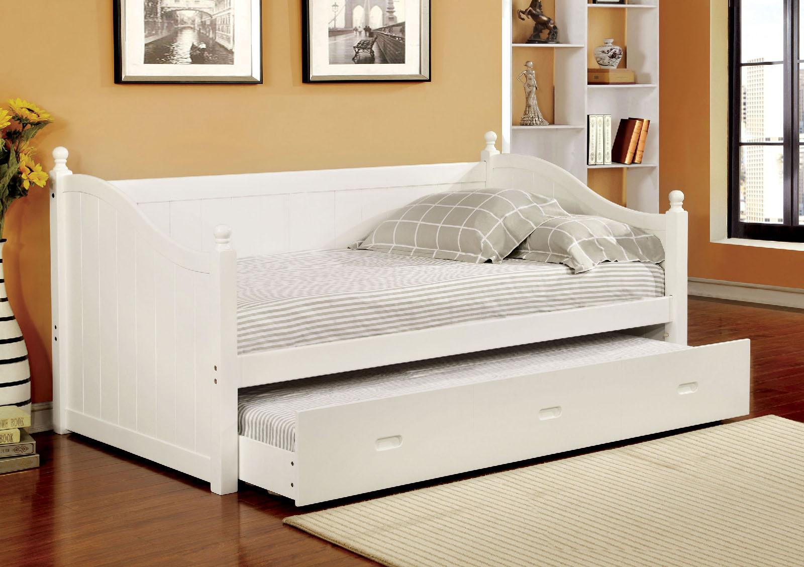 Furniture Of America 1928wh White Twin Daybed With Trundle
