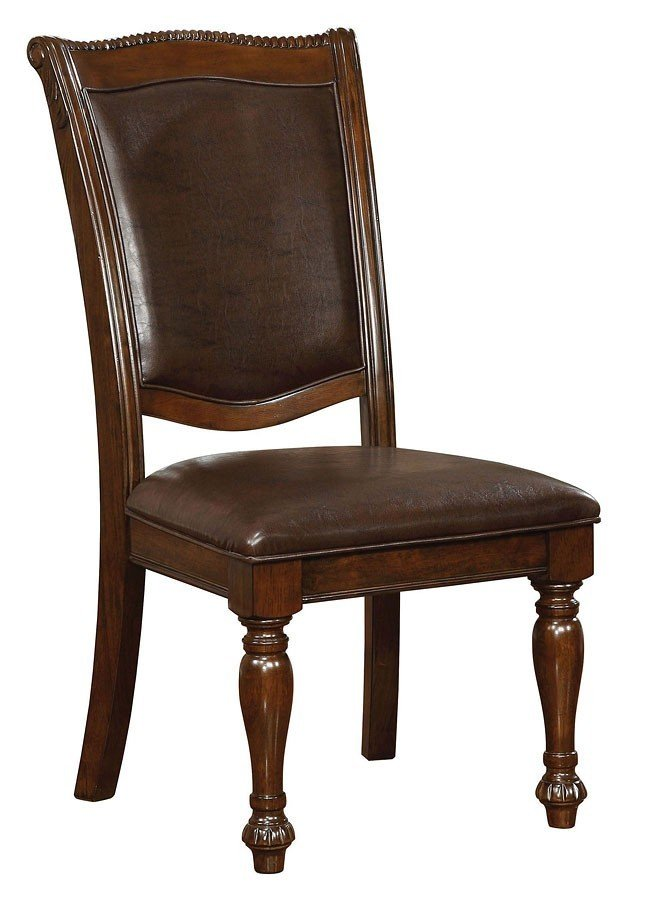 Furniture Of America Lennart Ii White Panel Bedroom Set: Furniture Of America Alpena CM3350AC Brown Cherry Dining Chair