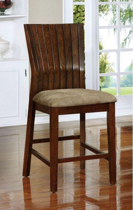 Montreal Ii By Furniture Of America Cm3711pc Walnut Bar Stool