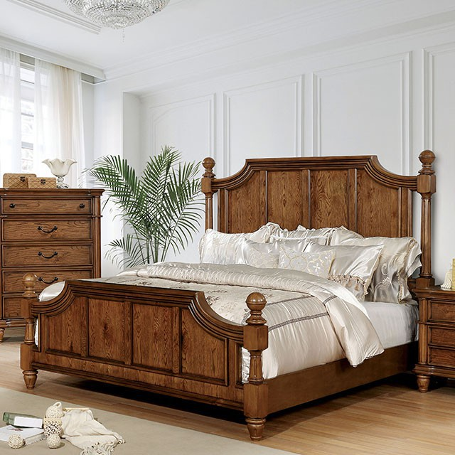 Peachy Mantador Light Oak Finish California King Bed Cm7542Ck By Furniture Of America Andrewgaddart Wooden Chair Designs For Living Room Andrewgaddartcom