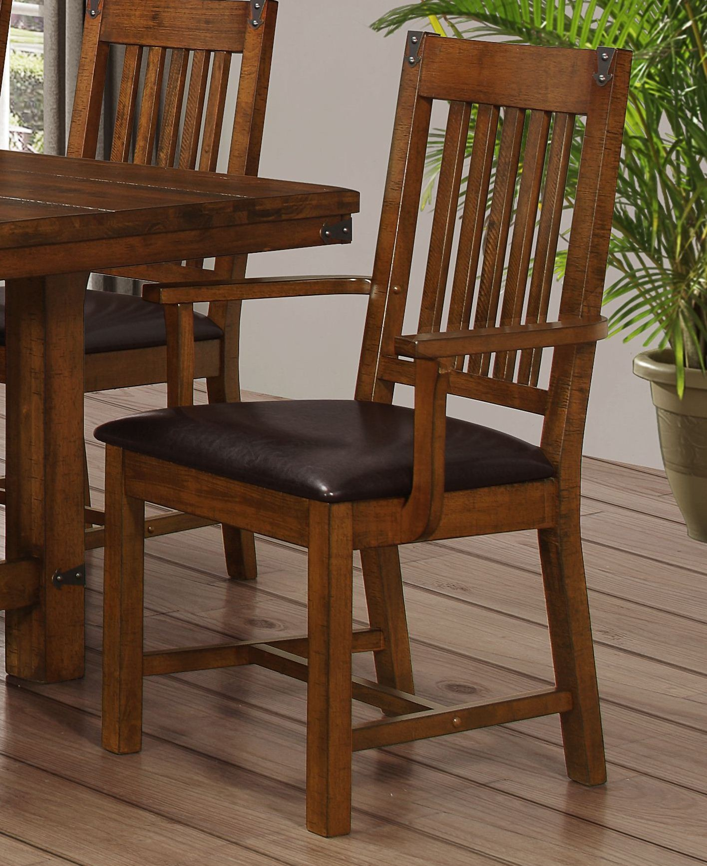 new classic buchanan d2514 21 dining height arm chair brown mahogony. Black Bedroom Furniture Sets. Home Design Ideas