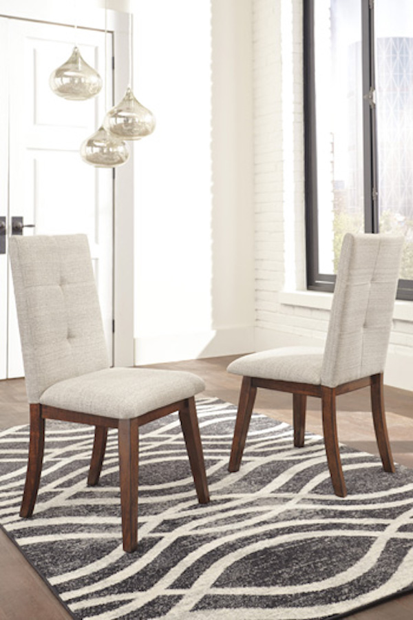Ashley D372 01 Centiar Dining Chair Set Of 2 In Brown Wood