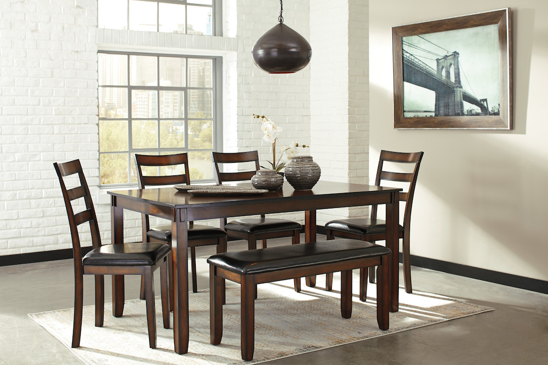 Ashley Furniture Coviar D385 325 Casual Dining Table Bench Side Chair