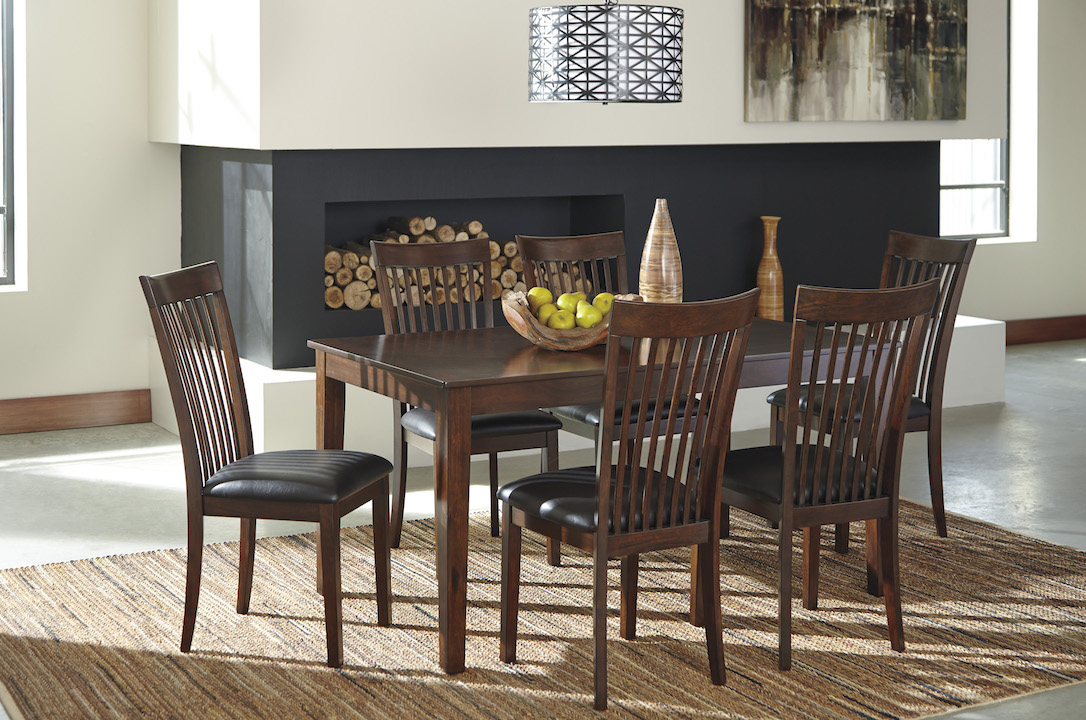 ashley furniture mallenton d411-425 casual dining room table set