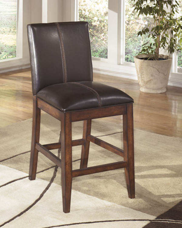 Ashley D442 224 Larchmont Barstool Set Of 2 Brown Black