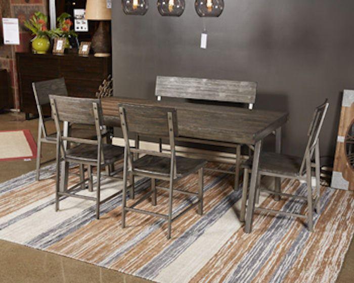 Ashley D467 08 Raventown Dining Chair In Grayish Brown Metal
