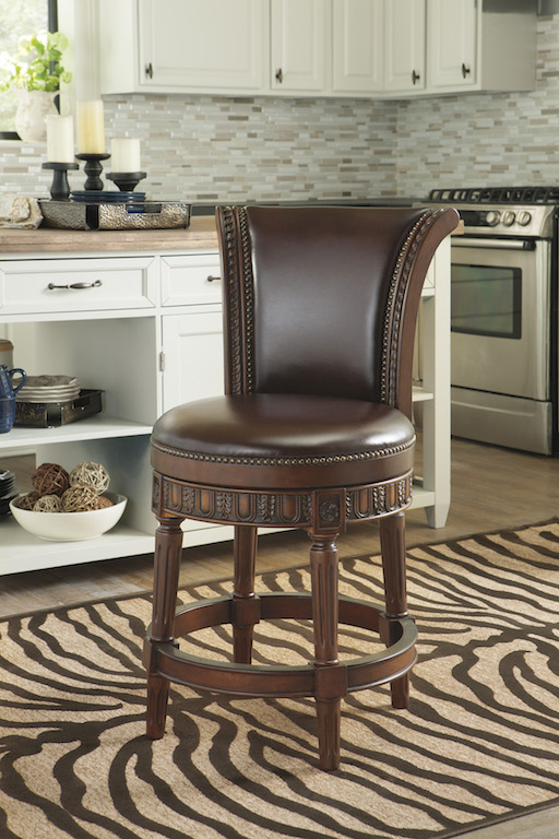 Ashley Furniture D553 224 Traditional Swivel Counter