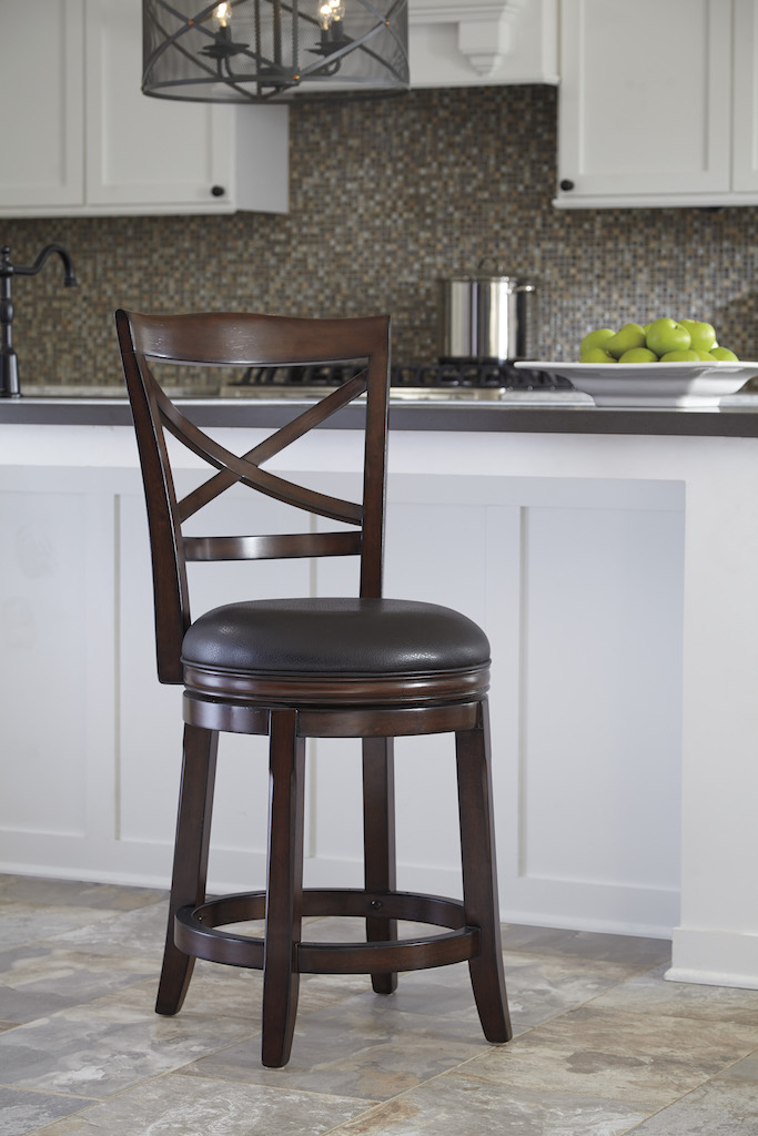 Ashley Furniture D697 424 Rustic Brown Swivel Counter Height Barstool