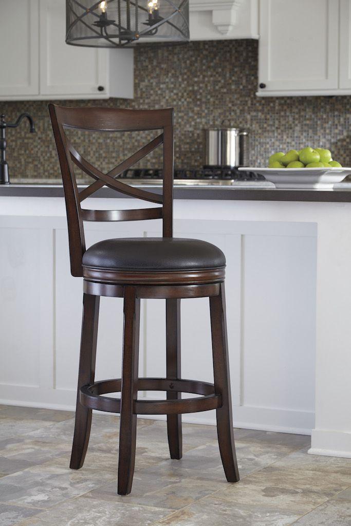 Ashley Furniture D697 430 Rustic Brown Swivel Bar Height