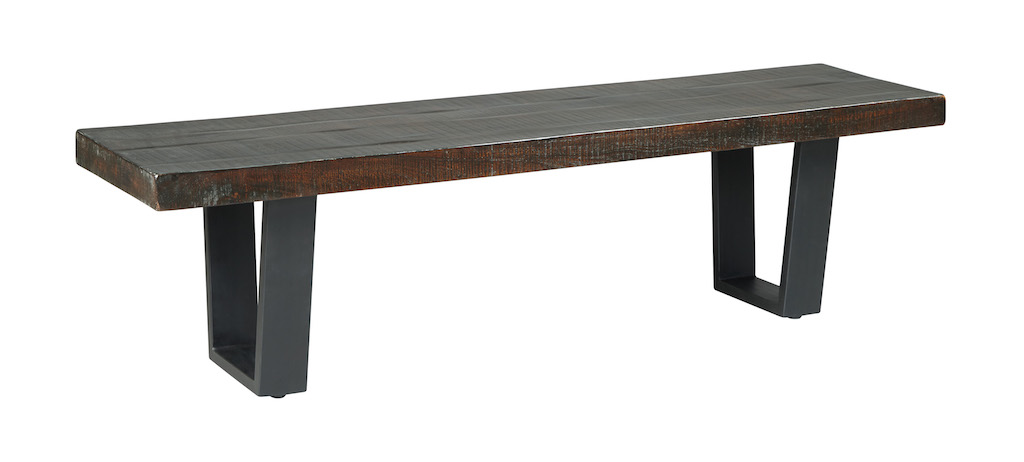 Ashley   Parlone D721 00   Wood / Metal Dining Bench