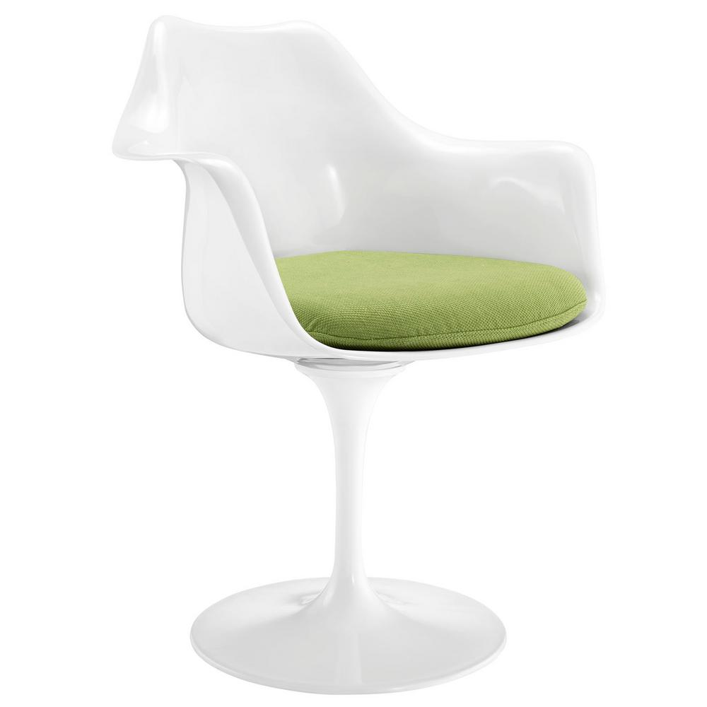Modway Lippa Eei 116 Grn Modern Molded White Arm Chair
