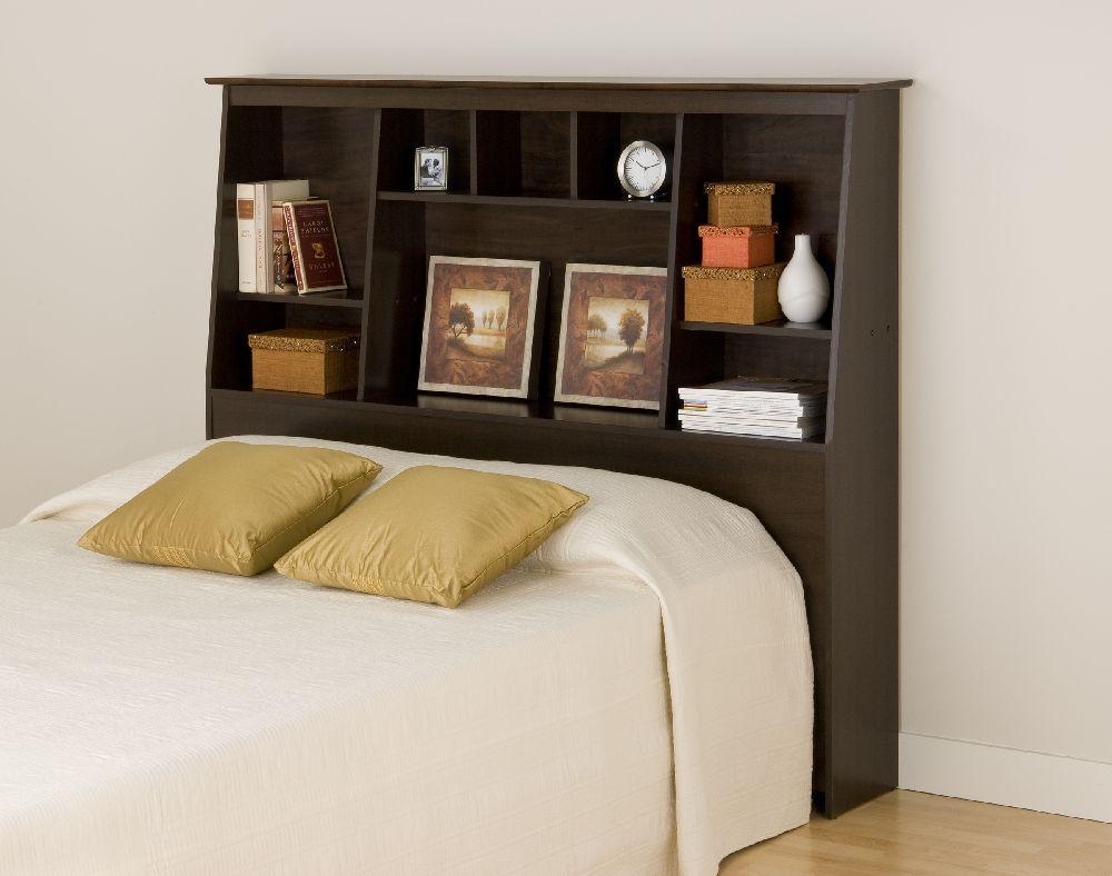 Prepac Espresso Tall Full Queen Bookcase Headboard