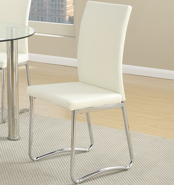 cc6071e1df4c ... Poundex F1438 Contemporary White Finish Dining Chair Set of 2.  images/products/f1438.jpg