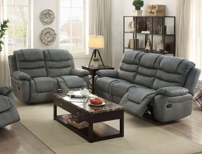 Wondrous Fink Collection F6760 Slate Grey Reclining Sofa Loveseat Set Andrewgaddart Wooden Chair Designs For Living Room Andrewgaddartcom
