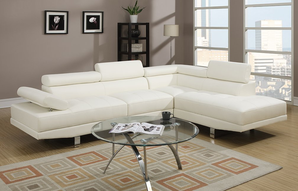 Home Sectionals Gilbert F7320 White Bonded Leather Ultra Modern Sectectional Images Products Jpg
