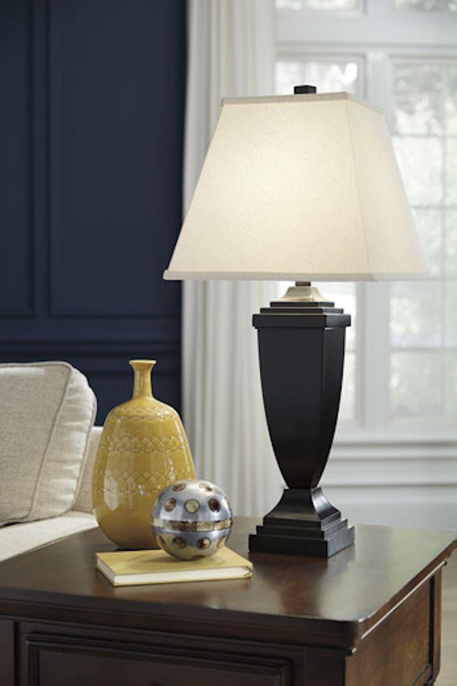 L243154 Amerigin Ashley Poly Table Lamp Set Of 2 Bronze
