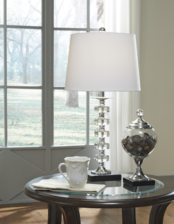 L428094 Leesa By Ashley Crystal Table Lamp Clear