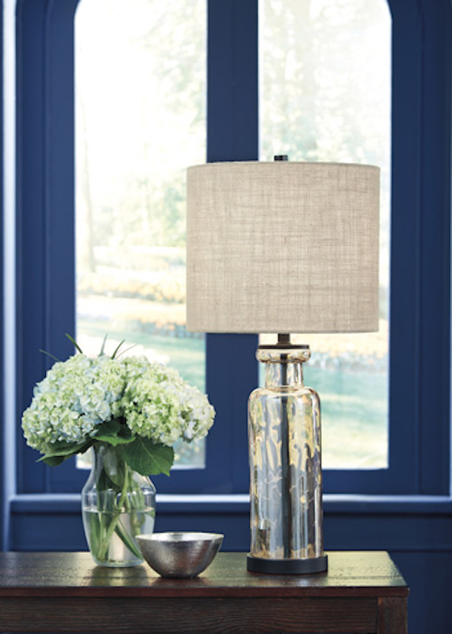 L431414 Laurentia By Ashley Glass Table Lamp Champagne Casual Style