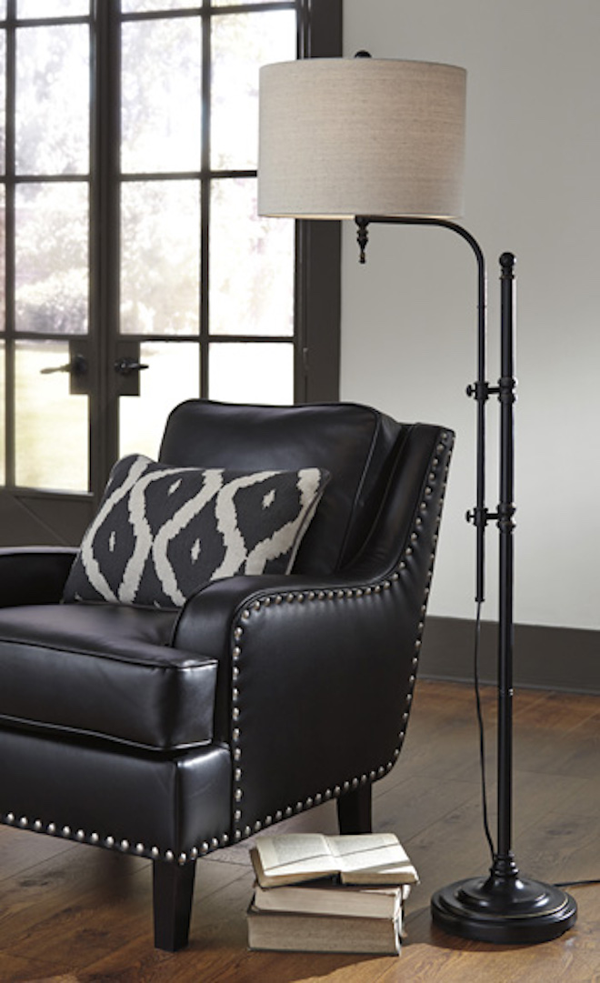 L734251 Anemoon By Ashley Metal Floor Lamp In Black Casual