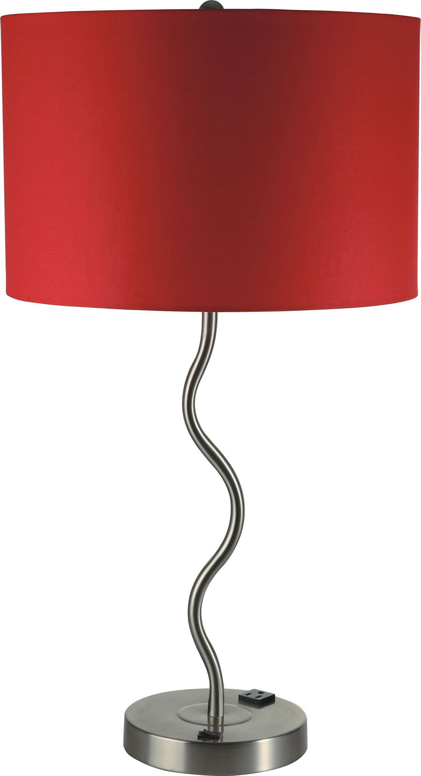 Furniture Of America L76224t Rd Table Lamp Round Chrome