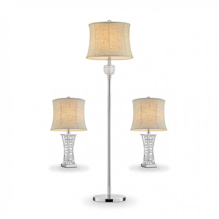 Antares By Furniture Of America L9722 3PK 3 Piece Lamp Set