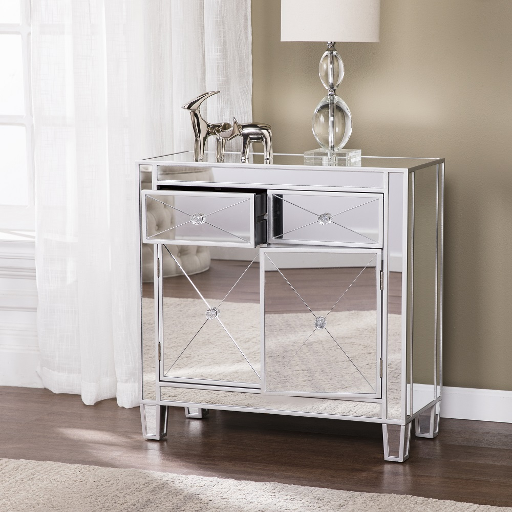 Southern Enterprises Oc9156 Mirage Mirrored Accent Cabinet