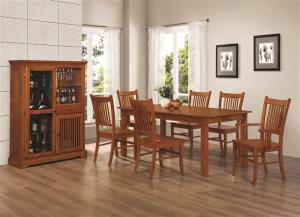 Marbrisa Collection 100621 Mission Country Formal Dining Table Set